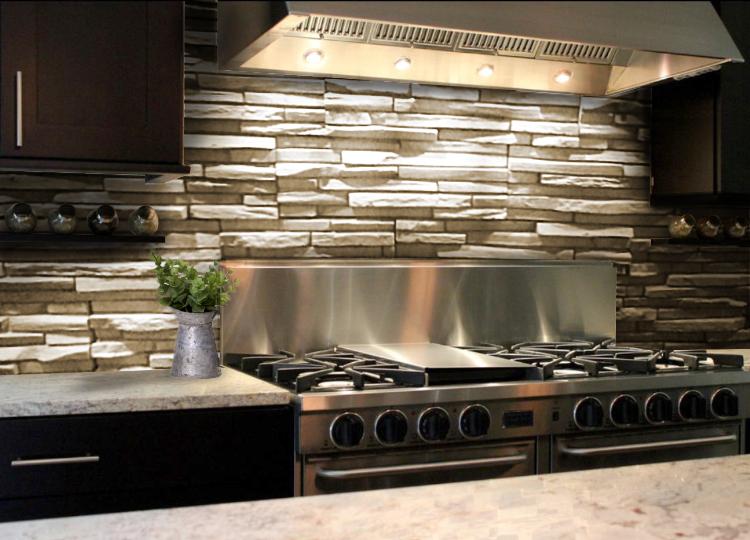 Revestimientos r sticos para cocinas renov tus ambientes - Revestimiento para cocinas ...