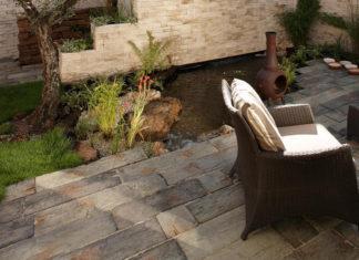 usar madera artificial símil quebracho en el jardín