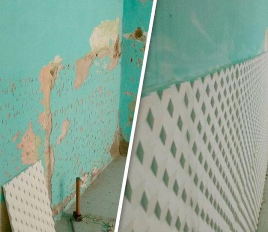 Eliminar la humedad en paredes interiores