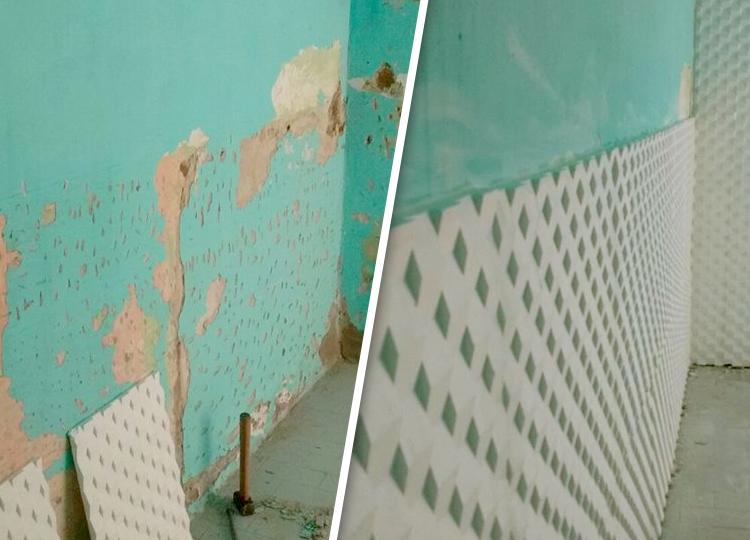 Como quitar la humedad de las paredes interiores humedad - Quitar humedad pared ...